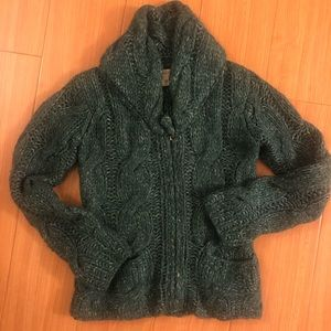 Green cardigan perfect for Christmas